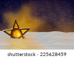 shining christmas star at night ...   Shutterstock . vector #225628459