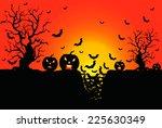 background for halloween... | Shutterstock . vector #225630349