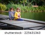 beautiful happy sisters having... | Shutterstock . vector #225631363
