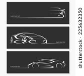 set of modern sports car... | Shutterstock .eps vector #225632350