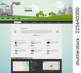 modern eco website template... | Shutterstock .eps vector #225640300