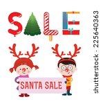 christmas sale design template. ... | Shutterstock .eps vector #225640363