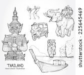 illustration of vector set of... | Shutterstock .eps vector #225645469