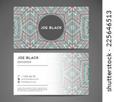 vintage business card | Shutterstock .eps vector #225646513