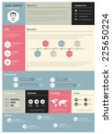 flat resume with infographics... | Shutterstock .eps vector #225650224