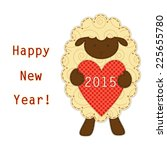 cute sheep  symbol of the year... | Shutterstock .eps vector #225655780