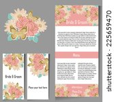 wedding invitation cards with... | Shutterstock .eps vector #225659470