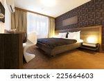 Stock photo interior of a luxury hotel bedroom 225664603