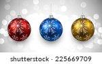 Colorful Christmas Balls On...