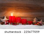 christmas decoration with...   Shutterstock . vector #225677059