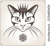 vector illustration of the cat... | Shutterstock .eps vector #225680404
