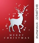 christmas and new years red...   Shutterstock .eps vector #225687148