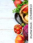summer frame with fresh organic ... | Shutterstock . vector #225688813