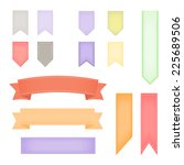 pastel ribbon banners collection | Shutterstock .eps vector #225689506