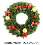 christmas decorative wreath... | Shutterstock . vector #225692314