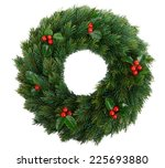 christmas decorative wreath... | Shutterstock . vector #225693880