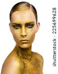 gold make up | Shutterstock . vector #225699628
