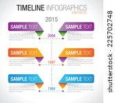 timeline infographicelements...   Shutterstock .eps vector #225702748