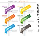 infographicolorful elements | Shutterstock .eps vector #225702760