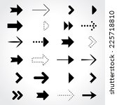black and white arrows... | Shutterstock .eps vector #225718810