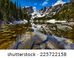 dream lake at the rocky... | Shutterstock . vector #225722158