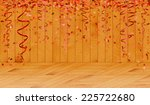 falling oval confetti with red... | Shutterstock .eps vector #225722680