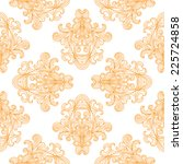 seamless pattern with ornate... | Shutterstock . vector #225724858