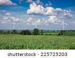 wind turbine for alternative... | Shutterstock . vector #225725203