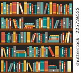 Vector Of Library Book Shelf...