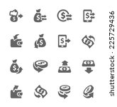 simple set of money related... | Shutterstock .eps vector #225729436