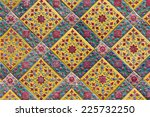 thai style ceramic wallpaper | Shutterstock . vector #225732250