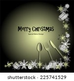 christmas menu | Shutterstock .eps vector #225741529