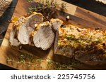 homemade hot pork tenderloin... | Shutterstock . vector #225745756