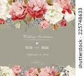 greeting card with... | Shutterstock . vector #225748633