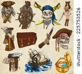 pirates  buccaneers and sailors ... | Shutterstock . vector #225753526
