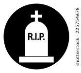 grave symbol button on white... | Shutterstock .eps vector #225754678
