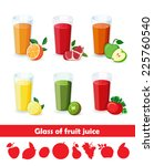 set of tasty fresh squeezed... | Shutterstock .eps vector #225760540
