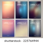 set of vector brochures... | Shutterstock .eps vector #225764944