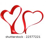 couple of hearts made from red... | Shutterstock . vector #22577221