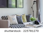 modern living room with row of... | Shutterstock . vector #225781270