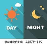 day and night long shadow flat  ... | Shutterstock .eps vector #225794560