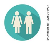 male and female wc icon... | Shutterstock .eps vector #225794914