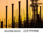 silhouette of construction site   Shutterstock . vector #225795988
