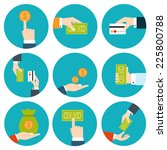 money in hands icons | Shutterstock .eps vector #225800788