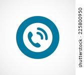 call bold blue border circle... | Shutterstock . vector #225800950