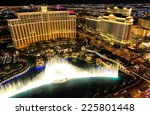 Stock photo las vegas usa march fountain show at bellagio hotel and casino on march in las 225801448