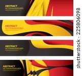 abstract belgian flag colors ... | Shutterstock .eps vector #225806098