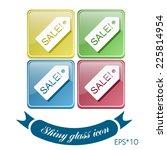 sale label sign sign. | Shutterstock .eps vector #225814954