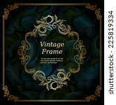 Elegant Vintage Frame With...