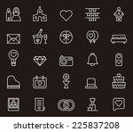 wedding icons | Shutterstock .eps vector #225837208